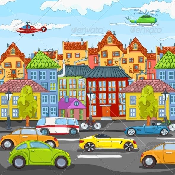 GraphicRiver City Cartoon 3777487
