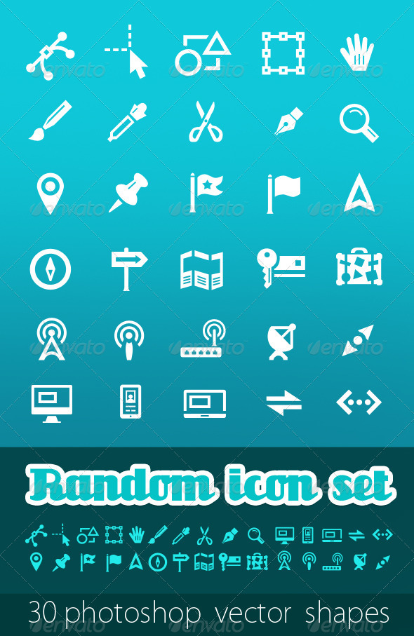 GraphicRiver Random Vector Icon Set 407073
