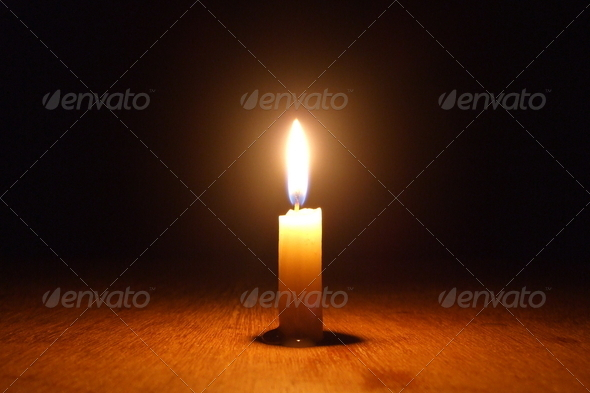 Burning Candle - Stock Photo - Images
