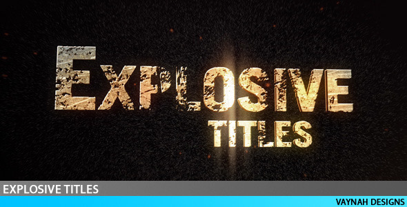 After Effects Project - VideoHive Explosive Titles Trailer HD 98351
