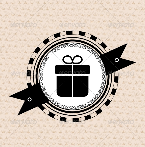 GraphicRiver Vintage retro label tag badge gift icon 3780627