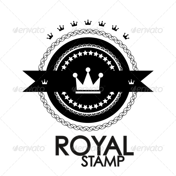 GraphicRiver Black retro vintage label tag badge royal st 3780940