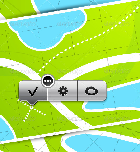 GraphicRiver Vector Map with Pointers 3781081