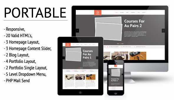 Portable - Responsive HTML/CSS Template - Creative Site Templates