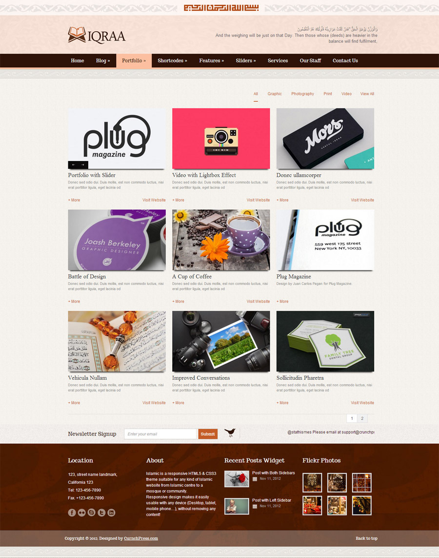 Islamic WordPress Responsive Theme