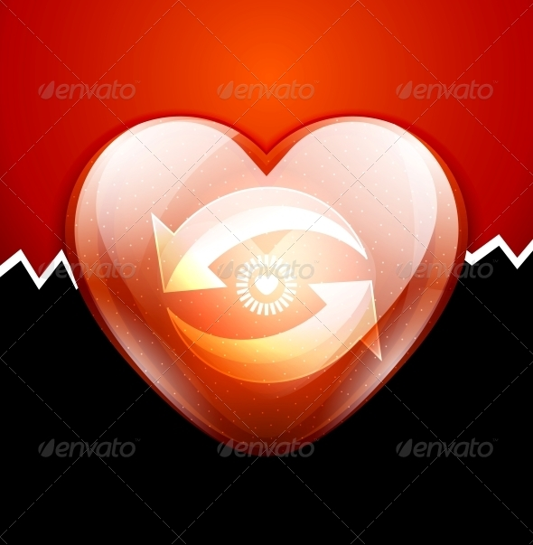 GraphicRiver Glossy Valentine s Heart Engine Concept 3782610