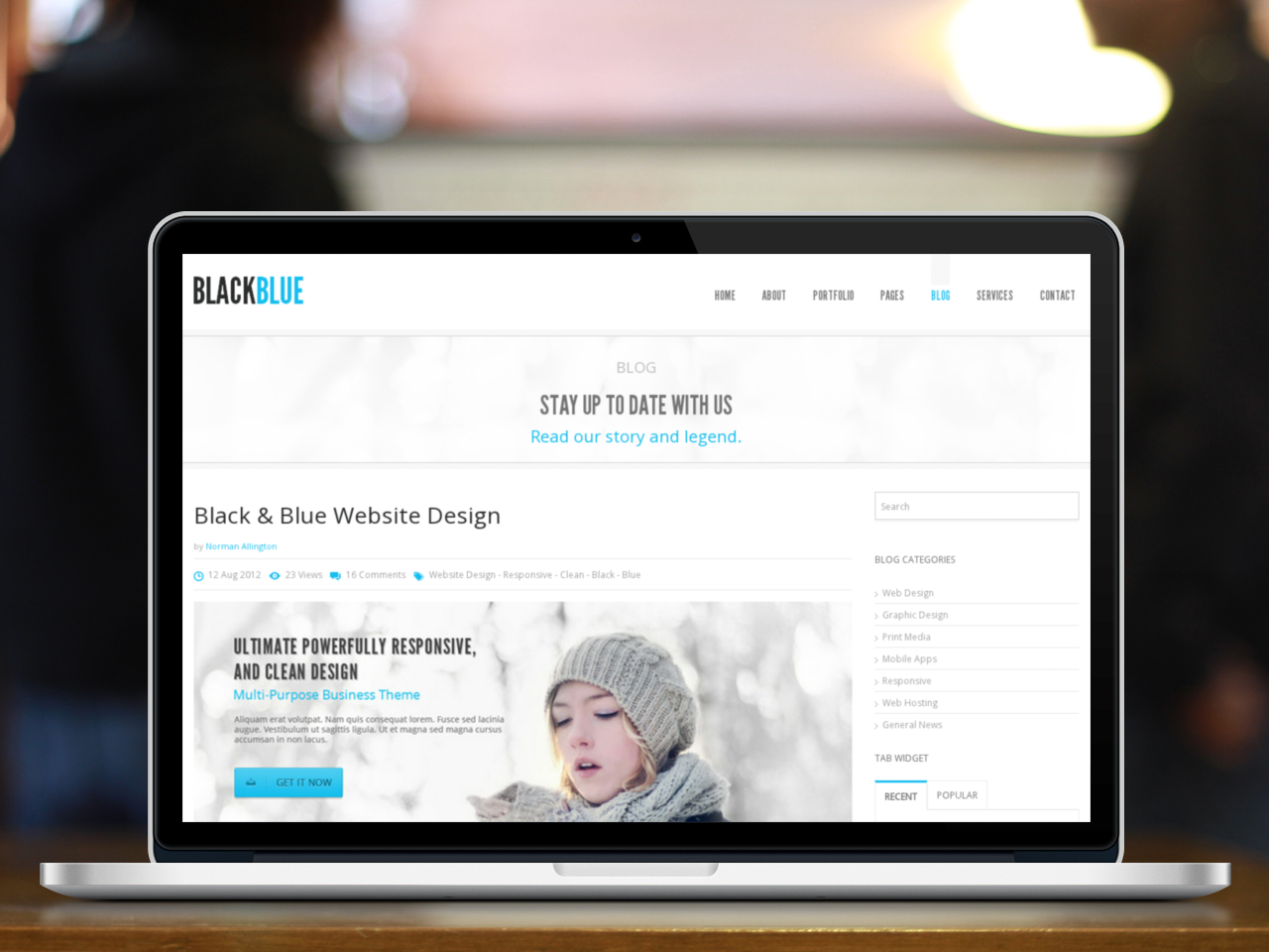 BlackBlue - Responsive multipurpose template