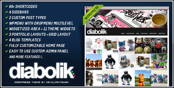 Diabolik Premium Wordpress Theme