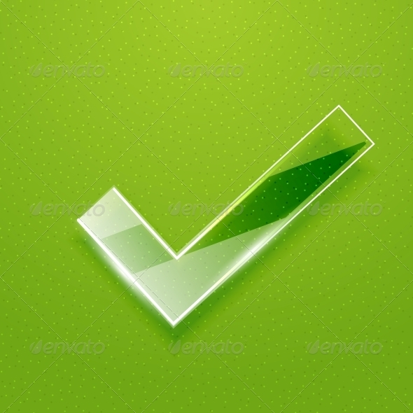 GraphicRiver Check on Green Background 3783542