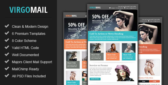 Virgomail - Email Marketing &amp; Newsletter Template - Email Templates Marketing