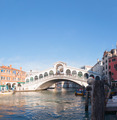 Rialto Bridge (Ponte Di Rialto) in Venice, Italy on a sunny day - PhotoDune Item for Sale