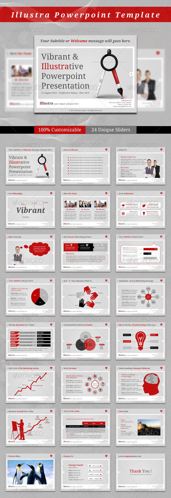 Illustra PowerPoint Template GraphicRiver - Presentation Templates -  Powerpoint Templates  Business 407166