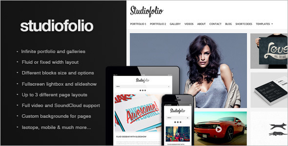 ThemeForest Studiofolio A Versatile Portfolio and Blog Theme 3760086