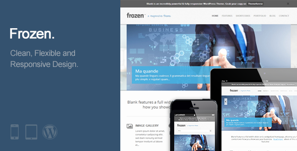 Frozen - Responsive Business WordPress Theme