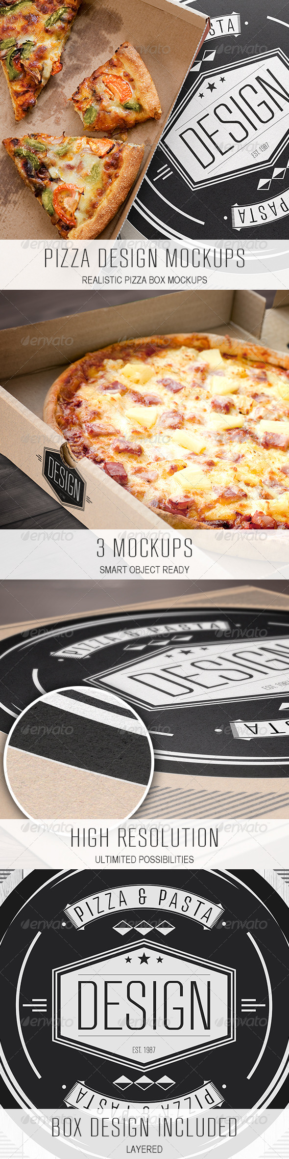 GraphicRiver Pizza Design Mockups 3787281