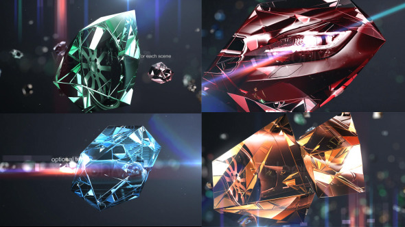 Diamonds Photo Slider/Opener VideoHive  Video Displays  Abstract 3787394
