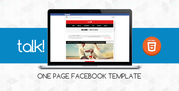 Talk! :: Facebook OnePage Template
