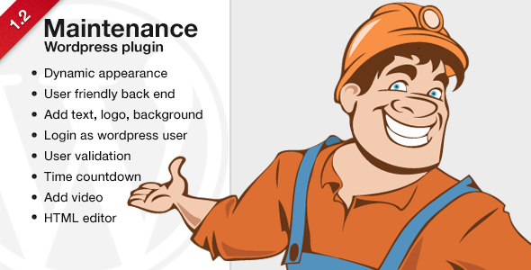 Maintenance - Wordpress plugin - CodeCanyon Item for Sale