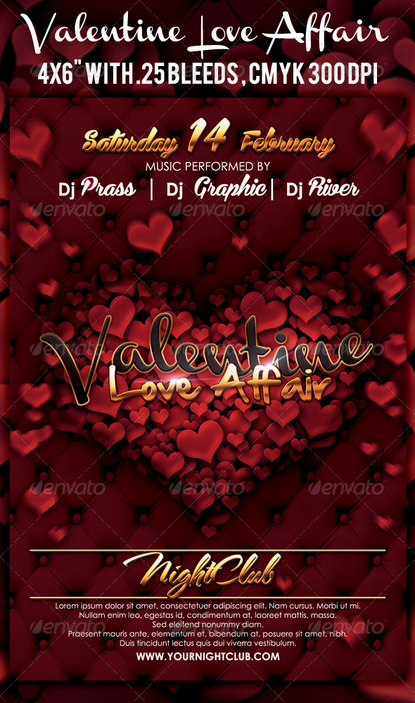 GraphicRiver Valentine Flyer 3572763