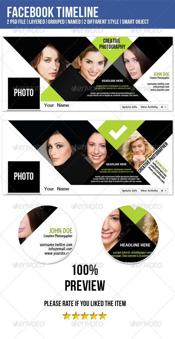 GraphicRiver Fb Timeline-Photographer Portfolio 3789412