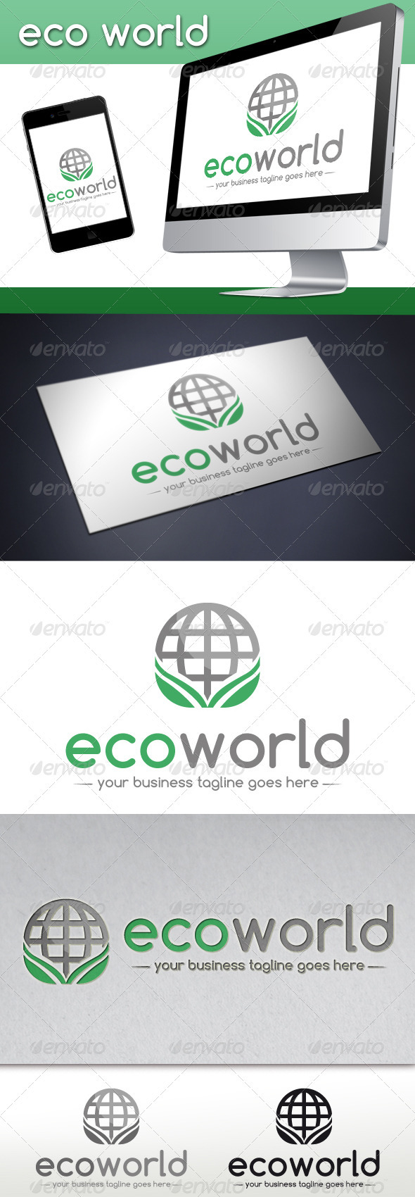 GraphicRiver Eco World Logo Template 3789474