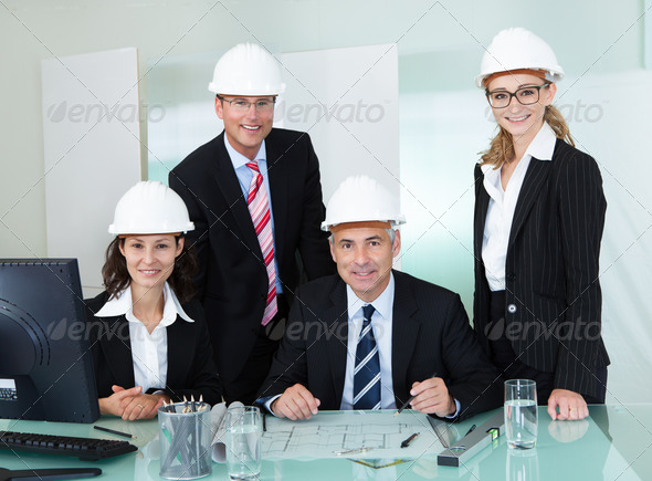 Partners in an architectural firm - Stock Photo - Images