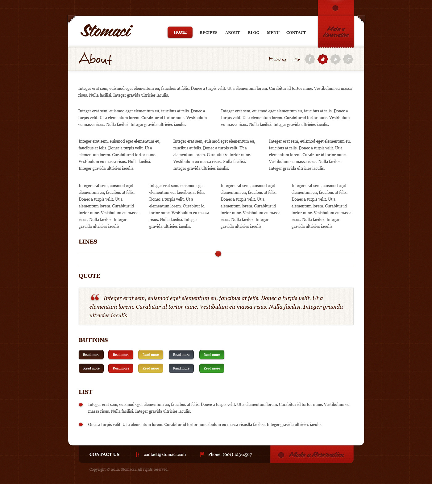 Stomaci - Restaurant & Cafe WordPress Theme