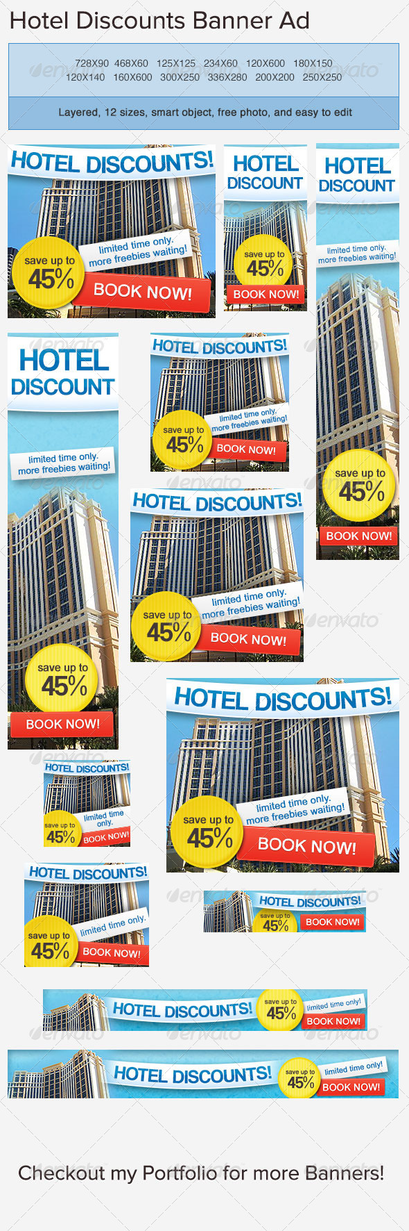 Hotel Accommodation Banner Ad - Banners &amp; Ads Web Elements