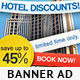 Hotel Accommodation Banner -Graphicriver中文最全的素材分享平台