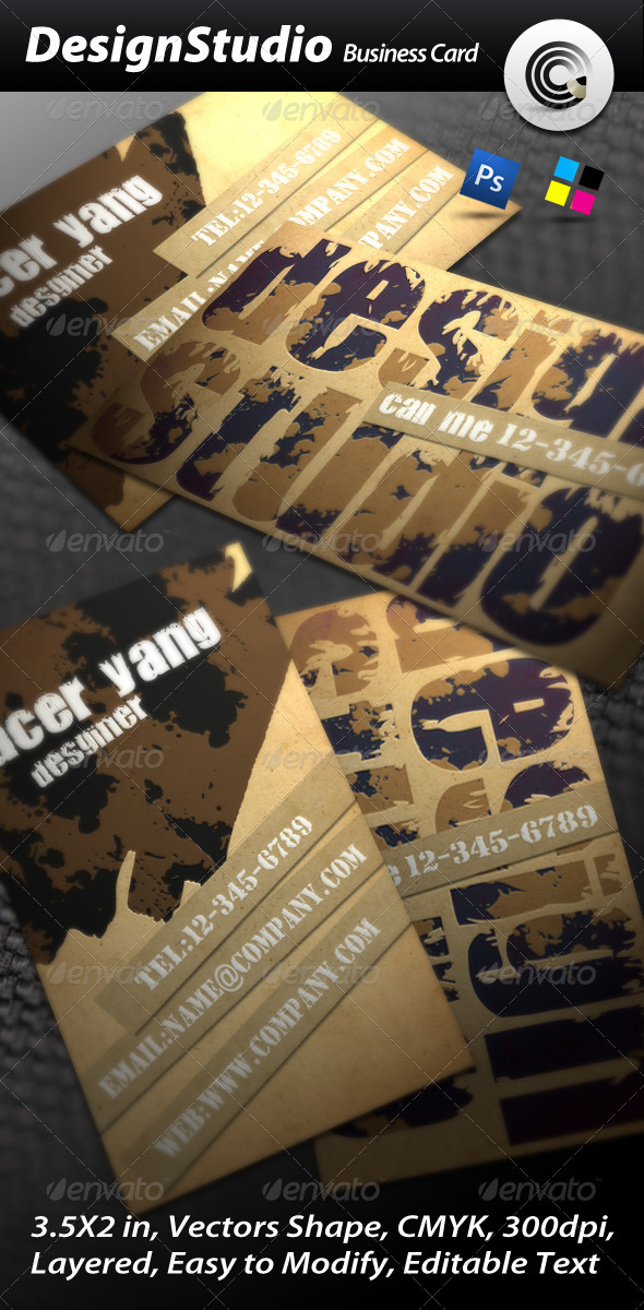 Design Studio Business Card - Grunge Business Cards