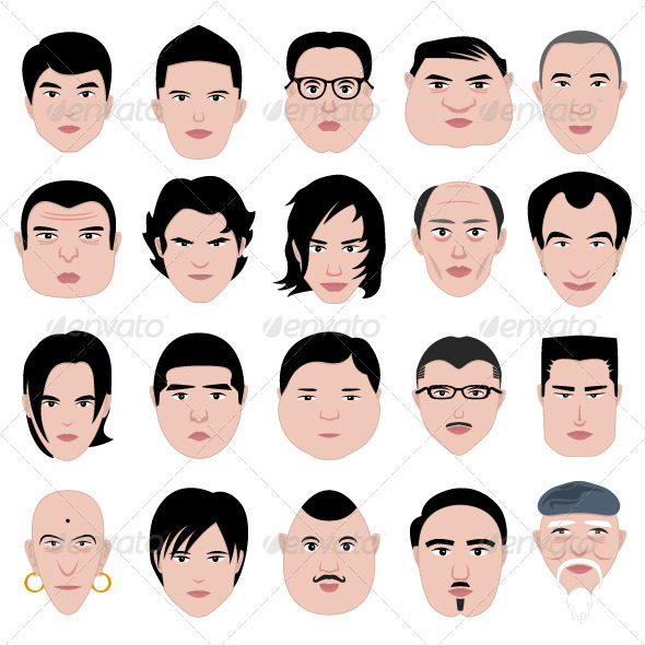 Man Face Head Shape Hairstyle Round Fat Thin Old
