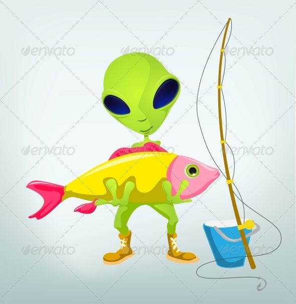 GraphicRiver Funny Alien 3791336