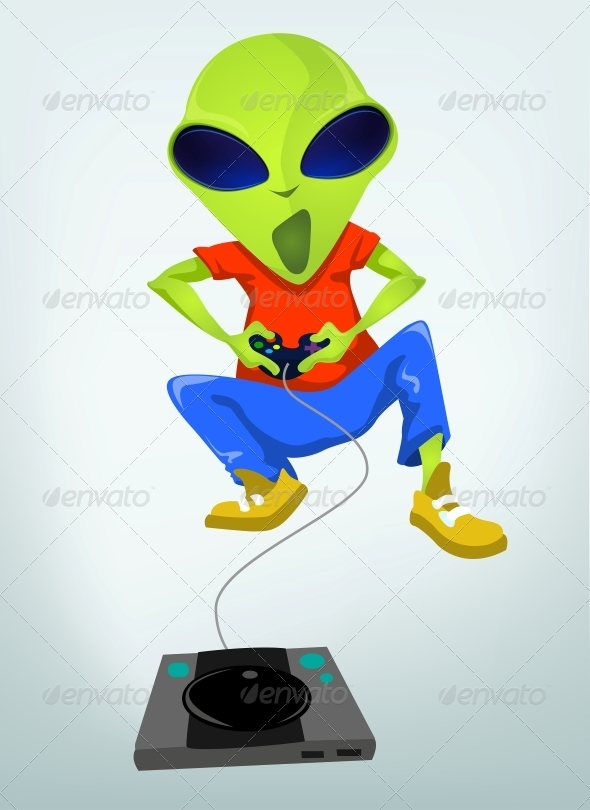 GraphicRiver Funny Alien 3791362