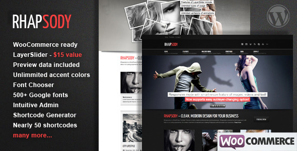Rhapsody WordPress Multi Purpose Theme - WooCommerce eCommerce