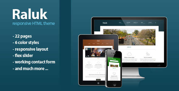 ThemeForest Raluk Responsive Business Theme 3759084