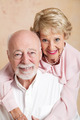 Studio Portrait of Beautiful Senior Couple - PhotoDune Item for Sale
