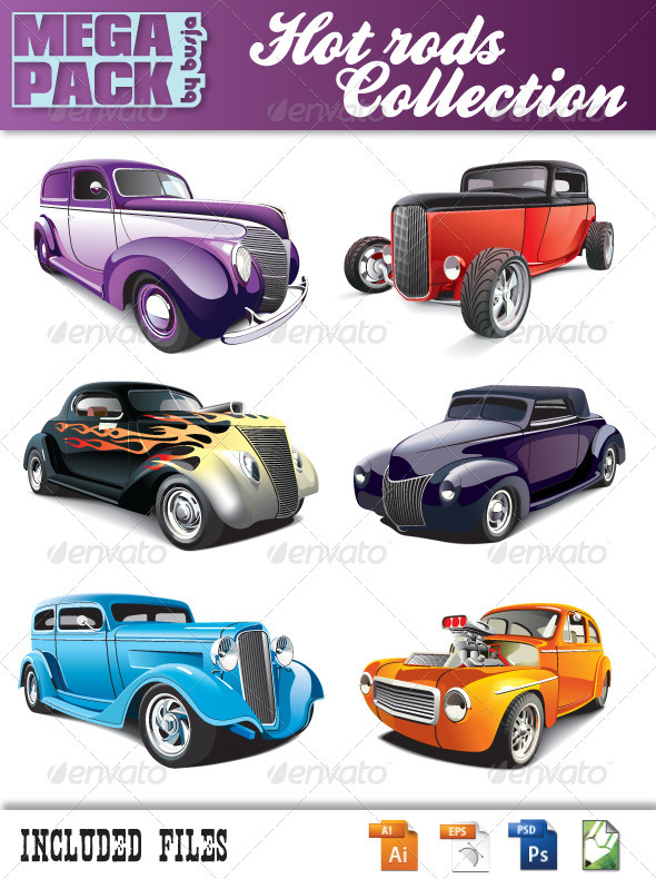 Hot rods collection - Retro Technology