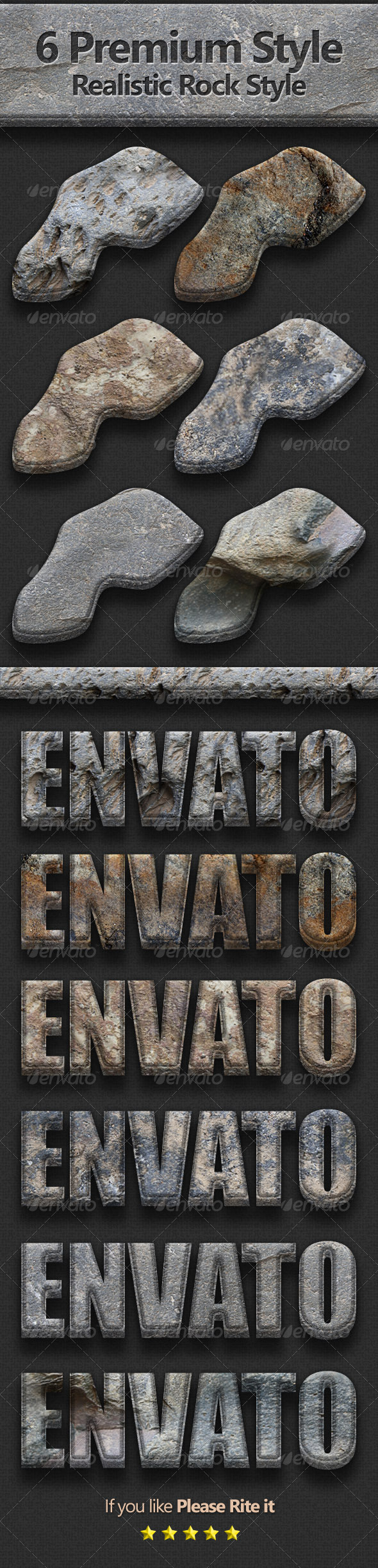 GraphicRiver 6 Premium Realistic Rock Style 3793873