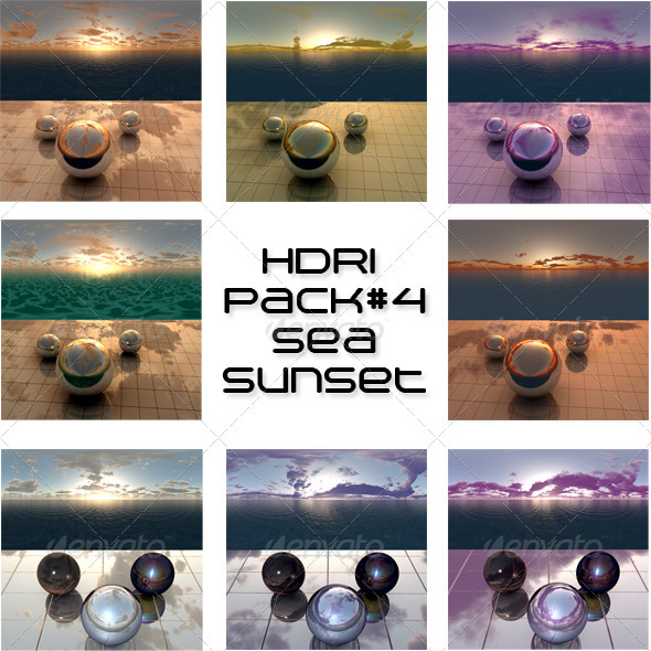 3DOcean Pack 4 Sea Sunset 408699