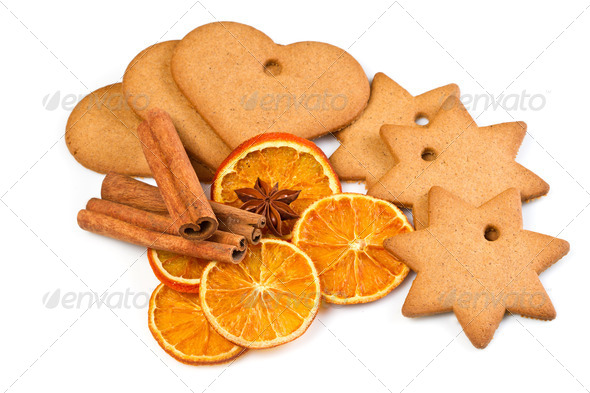 PhotoDune biscuits with cinnamon and orange dried 3795002