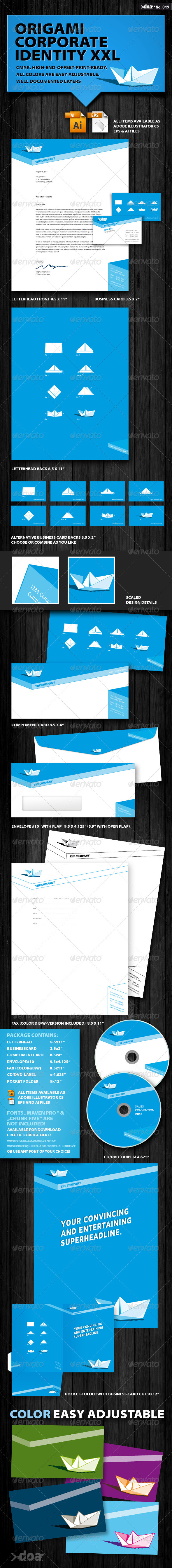 Origami Corporate Identity XXL - Stationery Print Templates