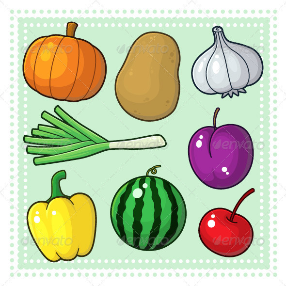 GraphicRiver Fruits & Vegetables 04 3795202