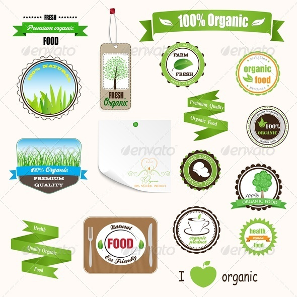GraphicRiver Organic Labels Logos and Stickers 3795227