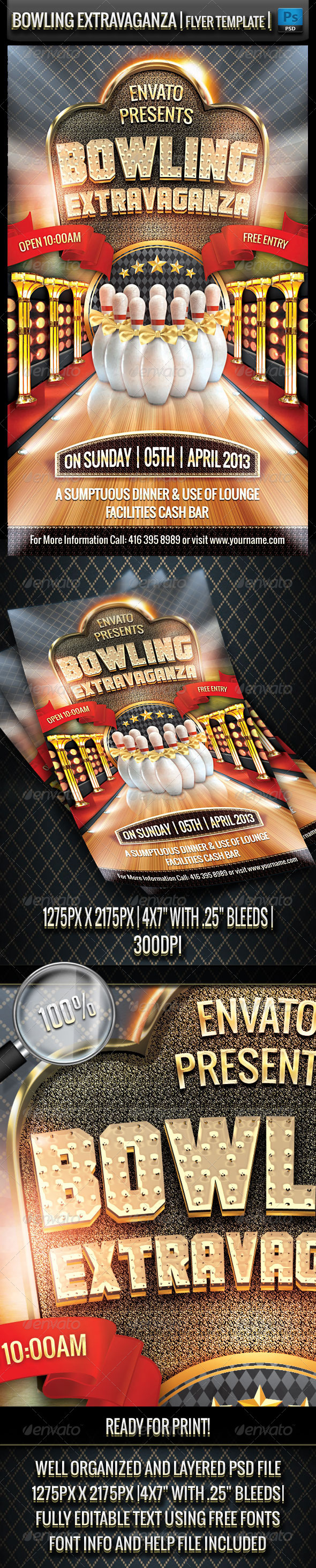 GraphicRiver Bowling Extravaganza Flyer Template 3795290