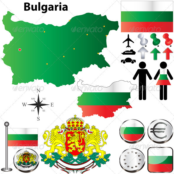GraphicRiver Bulgaria Map 3795583
