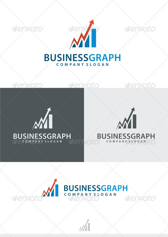 Business Graph Logo - Vector Abstract