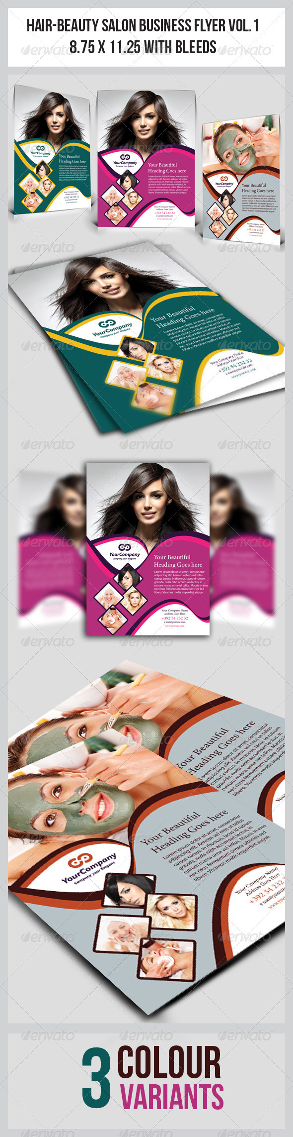 Hair & Beauty Salon Business  Flyer Vol.1 - Corporate Flyers