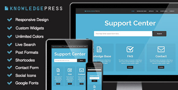 ThemeForest Responsive Knowledge Base & FAQ WordPress Theme 3434096