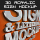 3D Acrylic Sign Mockup - Premium Kit - GraphicRiver Item for Sale