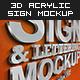 3D Acrylic Sign Mockup - Premium Kit - GraphicRiver Item for Sale